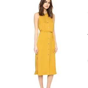 Theory Centha Dress in mustard